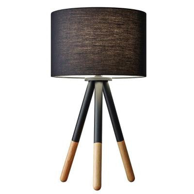 Louise 21 in. Tripod Brown and Black Table Lamp