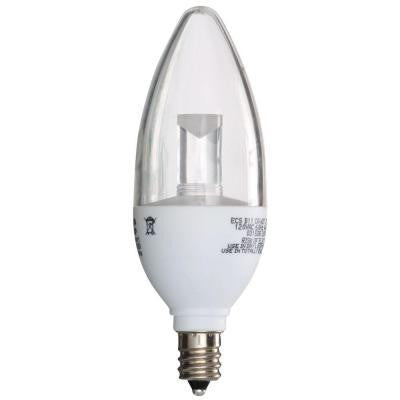 25W Equivalent Soft White (2700K) B11 Clear Blunt Tip Decorative Dimmable LED Light Bulb