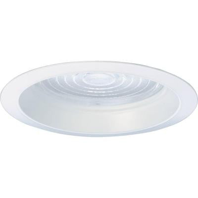 6 in. Pro-Optic White Recessed Regressed Fresnel Trim