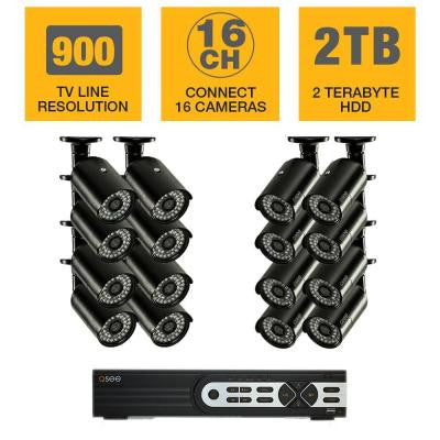 HeritageHD Series 16-Channel 960H 2TB Video Surveillance System with (16) 900TVL Cameras and 100 ft. Night Vision