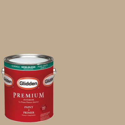 1 gal. #HDGWN46 Soft Suede Semi-Gloss Interior Paint with Primer