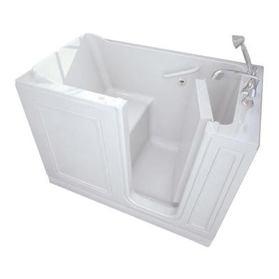 Acrylic Standard Series 51 in. x 30 in. Walk-In Air Bath Tub with Quick Drain in White