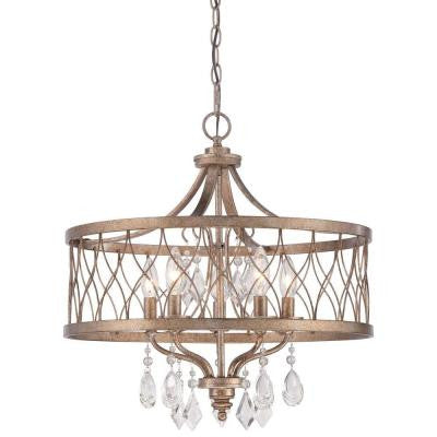 West Liberty 5-Light Olympus Gold Chandelier