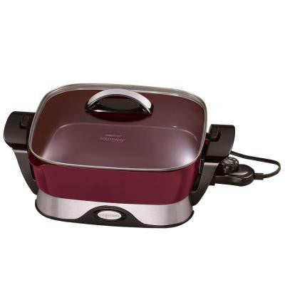 Electric Non-Stick Foldaway Skillet 12 in. x 12 in. Cooking Surface
