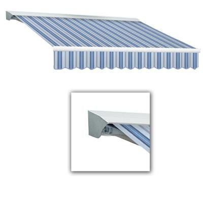 10 ft. LX-Destin with Hood Left Motor with Remote Retractable Acrylic Awning (96 in. Projection) in Blue Multi