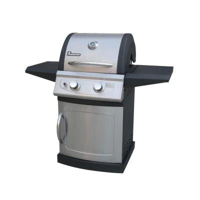 Falcon Series 2-Burner Propane Gas Grill in Black and Stainless Steel