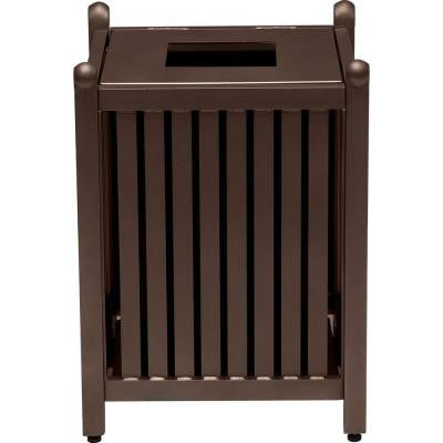 Spring Arbor 32 Gal. Hazelnut Contract Trash Can with Liner and Lid