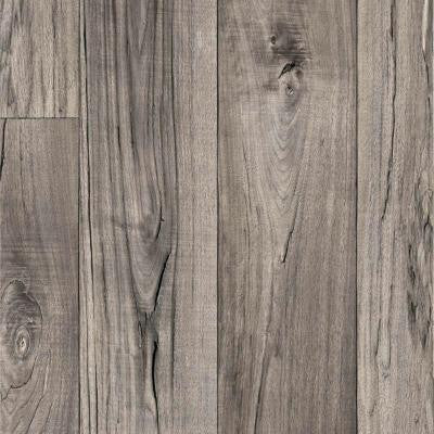Grey Weathered Oak Plank 13.2 ft. Wide Residential Vinyl Sheet x Your Choice Length