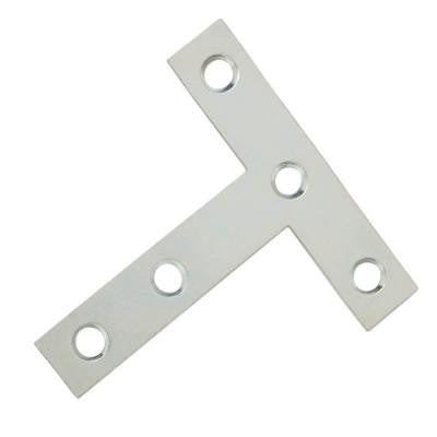 3 in. x 3 in. Zinc-Plated T-Plate (2-Pack)