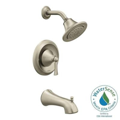 Wynford 1-Handle Posi-Temp Tub and Shower Faucet Trim Kit in Brushed Nickel (Valve Sold Separately)