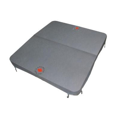 100 in. x 92 in. Rectangle Spa Cover in Grey (5 in. x 3 in. Taper)