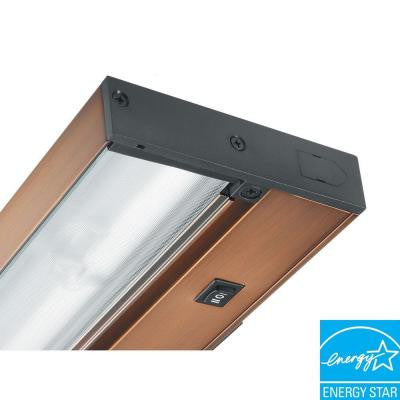Pro-Series 12 in. Brushed Bronze Fluorescent Under Cabinet Light