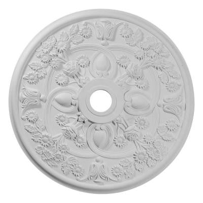 1-3/8 in. x 30-7/8 in. x 30-7/8 in. Polyurethane Rose Ceiling Medallion