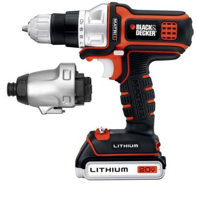 20-Volt Max Lithium-Ion Matrix Drill and Impact Combo Kit (2-Tool)