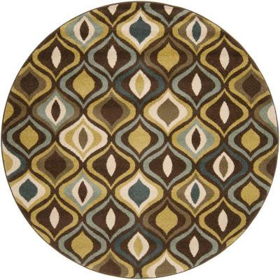 Estero Green 6 ft. 7 in. Round Area Rug