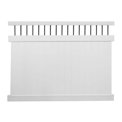 Bradford 6 ft. x 8 ft. White Vinyl Privacy Fence Panel