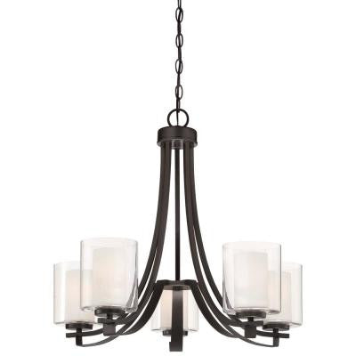 Parsons Studio 5-Light Smoked Iron Chandelier