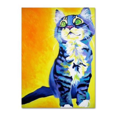 "19 in. x 14 in. ""Here Kitty Kitty"" by DawgArt Printed Canvas Wall Art"