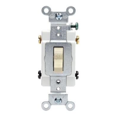 20 Amp Double-Pole Commercial Switch - Ivory