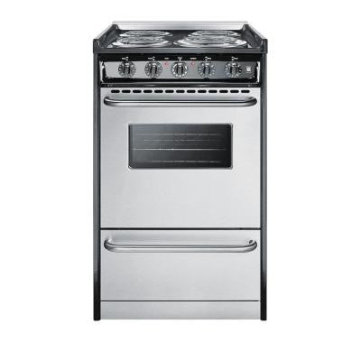 20 in. 2.5 cu. ft. Slide-In Electric Range in Stainless Steel