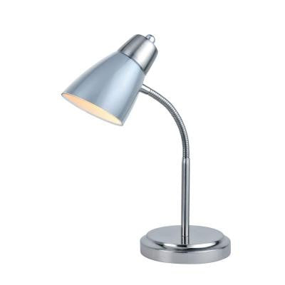Designer Collection 15.75 in. Silver Desk Lamp with Silver Metal Shade
