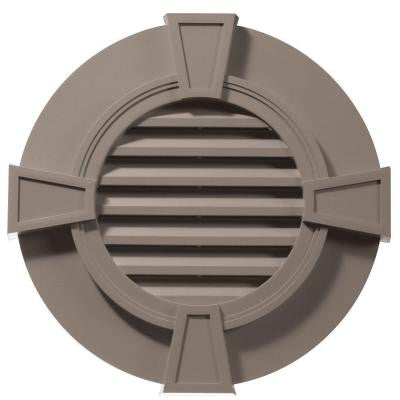 30 in. Round Gable Vent with Keystones #008 Clay