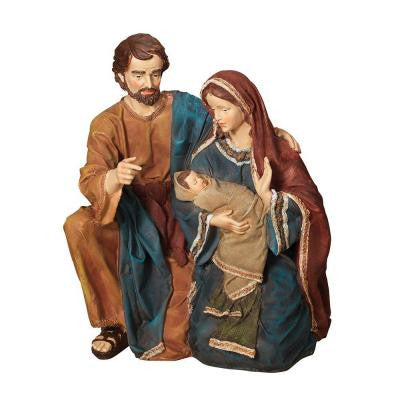 23 in. H Hand Painted Resin Holy Family Figurine