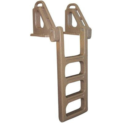 4-Step Heavy Duty Flip Up Polyethylene Dock Ladder