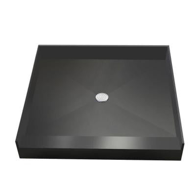 48 in. x 48 in. Single Threshold Shower Base with Center Drain