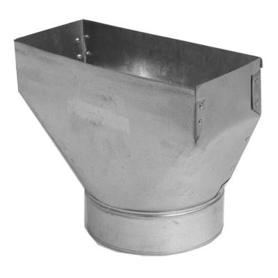 12 in. x 3.25 in. x 8 in. Galvanized Sheet Metal Range Hood Straight Boot Adapter