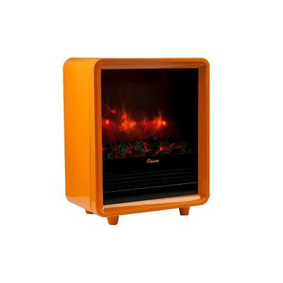 1500-Watt Mini Fireplace Radiant Electric Portable Heater - Orange