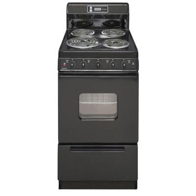 20 in. 2.42 cu. ft. Electric Range in Black