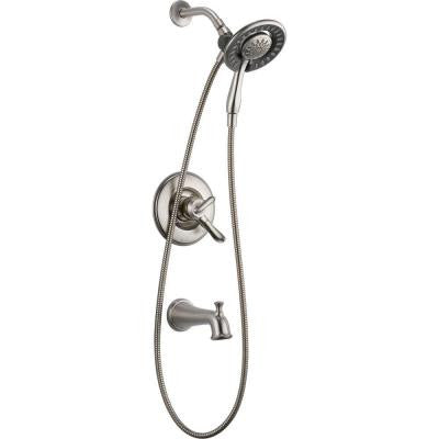 Linden In2ition 1-Handle Tub and Shower Faucet Trim Kit in Stainless (Valve Not Included)