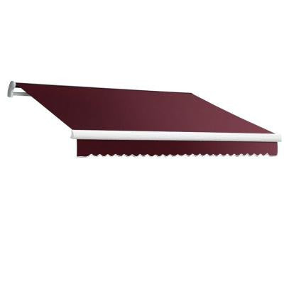 18 ft. MAUI EX Model Manual Retractable Awning (120 in. Projection) in Burgundy