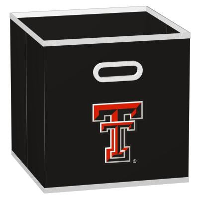 College STOREITS Texas Tech University 10-1/2 in. x 10-1/2 in. x 11 in. Black Fabric Storage Drawer