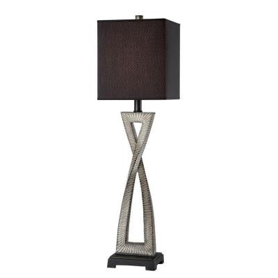 Designer Collection 32.5 in. Steel Fluorescent Table Lamp