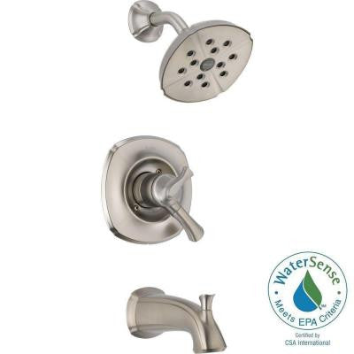 Addison 1-Handle H2Okinetic Tub and Shower Faucet Trim Kit in Stainless (Valve Not Included)