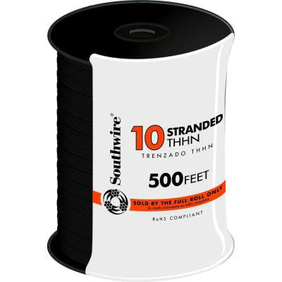 500 ft. 10 Stranded THHN Wire - Black