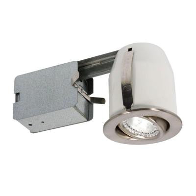 3 in. Brushed Chrome Recessed LED Lighting Fixture
