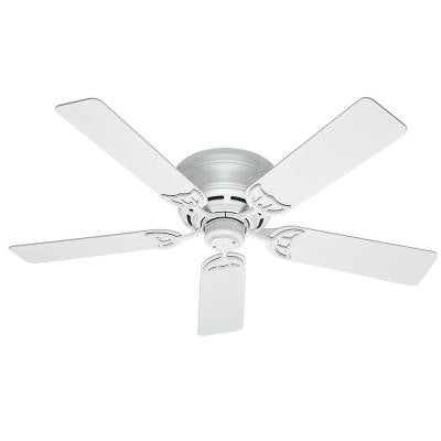 Low Profile III 52 in. White Indoor Ceiling Fan