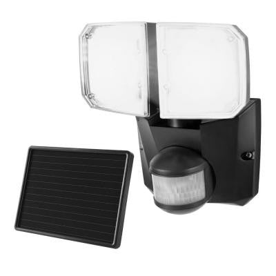 180 Degree Outdoor Black Motion Twin Solar Security Flood/Spot Light