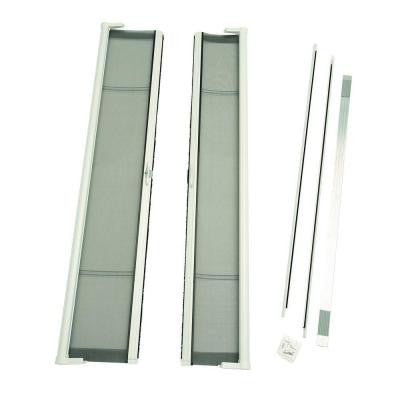 72 in. x 79 in. Brisa White Short Height Double Door Kit Retractable Screen Door