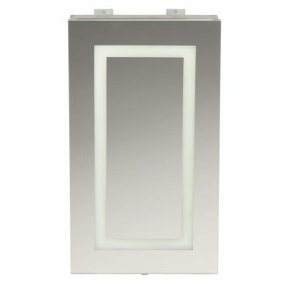 15 in. x 26 in. Surface-Mount LED Mirror Medicine Cabinet with Motion & Photocell Sensor