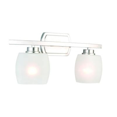 Tamworth 2-Light Brushed Nickel Vanity Light