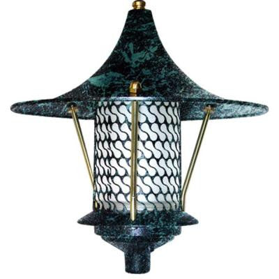 Corbin 1-Light Verde Green Flair Top Outdoor Pagoda Pathway Light