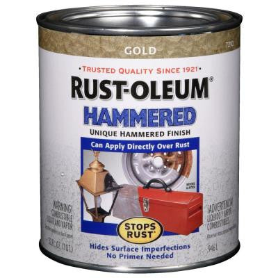1-qt. Hammered Gold Gloss Rust Preventive Paint (Case of 2)