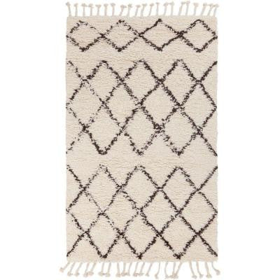 Yizhou Ivory 9 ft. x 13 ft. Indoor Area Rug