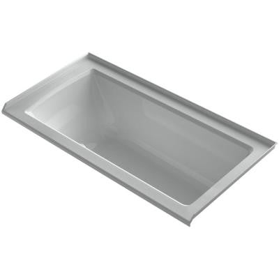 Archer 5 ft. Walk-In Whirlpool and Air Bath Tub in Ice Grey