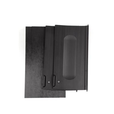 Executive Series Black Locking Cabinet Doors for Housekeeping Carts