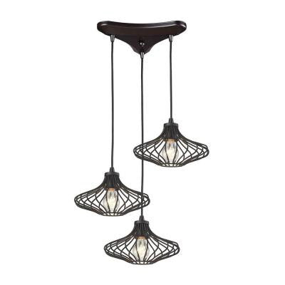 Yardley 10 in. 3-Light Oil Rubbed Bronze Pendant